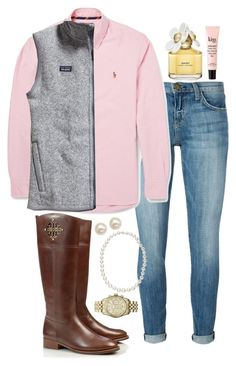 """""""Please get cold now so I can wear this❄️ I have all the pieces"""" by robramey17 ❤ liked on Polyvore featuring Current/Elliott, Polo Ralph Lauren, Patagonia, Tory Burch, Honora, MICHAEL Michael Kors, Marc Jacobs and philosophy"""