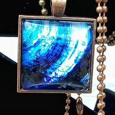 Blue Digital Artwork Pendant w/ Antiqued Copper Ball Chain And Bezel by BeadModern on Etsy Thing 1, Antique Copper, Ball Chain, Photo Manipulation, Artwork Prints, Gemstone Jewelry, Handmade Jewelry, Pendants, Gemstones