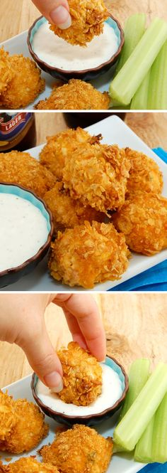 Buffalo Chicken Bites | Click Pic for 21 Quick and Easy Snacks to Make | Cheap and Easy Recipes to Feed a Crowd
