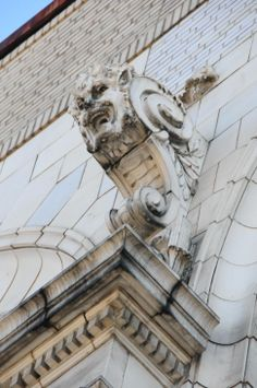 Detail from the RKO Hamilton Theater building in Manhattan.
