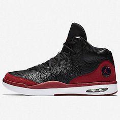 Nike Jordan Flight Tradition Mens 819472-001 Black Red Basketball Shoes Size 8.5