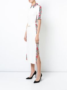 Gabriela Hearst платье-миди с воротником-поло