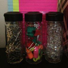 DIY Spice Jars for Office Organization by Patricia Sosa