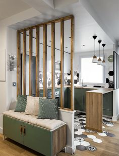 Discover Modern examples of Genius Room Divider design Ideas To Maximize Your Home Space. See the best designs for your interior house. Decor, Room, Interior, Small Apartments, Divider Design, Copper Kitchen Decor, Home Decor, House Interior, Interior Design