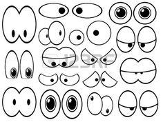 Set von Cartoon-Augen repräsentieren Emotionen auf weißem Hintergrund Stockfoto - 16158666