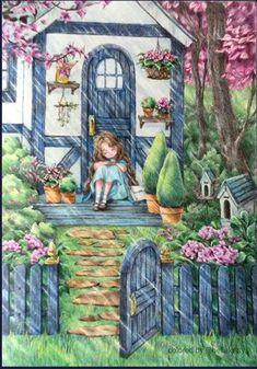 Girl Cartoon, Cartoon Art, Enchanted Forest Book, Forest Drawing, Poster Print, Kawaii Illustration, Forest Girl, Cute Girl Wallpaper, Digital Art Girl