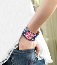 """Makes a great unique gift for someone special or buy one for yourself to perk up any outfit! Measures: Width 1.5"""",Lightweight Aluminum, Build your own Design! www.thepreppypair... #thepreppypair #preppy #dailydeal #monogram"""