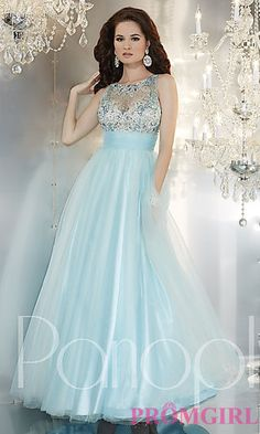 Long High Neck Ball Gown by Panoply at PromGirl.com