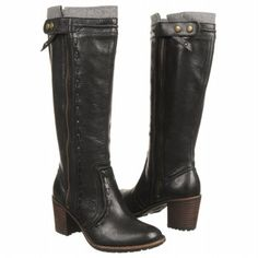 Women's Fossil Kandace Tall Boot Black Leather Shoes.com