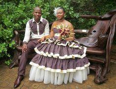 Paballo's world: Mr & Mrs Nxumalo - Traditional Wedding African Wear Dresses, Latest African Fashion Dresses, African Print Fashion, African Prints, Sesotho Traditional Dresses, African Traditional Wedding Dress, African Wedding Attire, African Attire, African Weddings