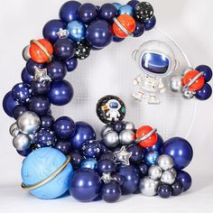 Galaxy party balloon decorations are ruling the galaxy-themed birthday party decorations and are turning them into a talk-of-the-town. Look for ideas here. Balloon Decorations Party, Birthday Party Decorations, Nasa Party, Astronaut Party, 2nd Birthday Party Themes, Birthday Ideas, Space Party, Space Theme, First Birthdays
