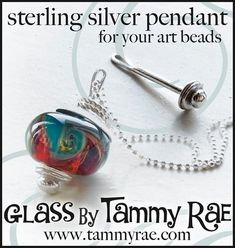 Interchangeable Large Hole Bead Pendant Sterling Silver Jewelry Supply and Jewelry Findings    This is an interchangeable pendant that large