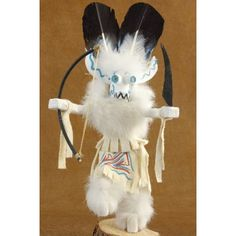 #Wiharu / #White #Ogre #Kachina #Doll #Navajo - The White Ogre, also called Wiharu, accompanies the Black Ogre and Soyoko (Ogre Woman) to the dances. They all work together to entertain the children and collect food as offerings