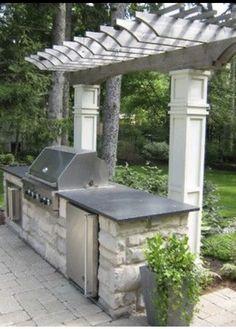 Outdoor Kitchen Countertops, Outdoor Kitchen Bars, Patio Kitchen, Outdoor Kitchen Design, Outdoor Kitchens, Kitchen Grill, Kitchen Counters, Design Grill, Küchen Design