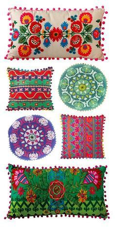 Mexican Home Decor - Travel Style Guide The Travel Tester Travel Style Guides br. - Mexican Home Decor – Travel Style Guide The Travel Tester Travel Style Guides bring you home deco - Dot And Bo, Home Decor Accessories, Decorative Accessories, Mexican Pillows, Mexican Textiles, Mexican Fabric, Deco Boheme Chic, Mexican Home Decor, Mexican Style Bedrooms