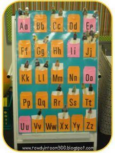 Name games! - Rowdy in Room 300 Kindergarten Names, Preschool Names, Kindergarten Language Arts, Kindergarten Literacy, Alphabet Activities, Teaching Calendar, Literacy Stations, Literacy Centers, Alphabet