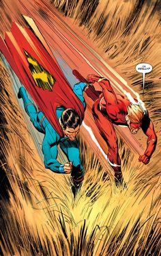 It's a race of Flash (Wally West) ⚔️ Superman! Are you Team Superman or Team Flash? Dc Comics Superheroes, Arte Dc Comics, Dc Comics Characters, Mundo Superman, Superman Art, Candy Crush Saga, Marvel Contest Of Champions, Comic Books Art, Comic Art