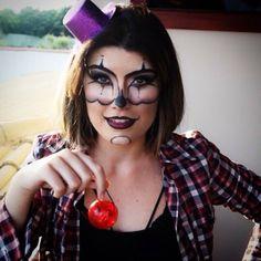Creepy clown Halloween makeup inspiration dia das bruxas maquiagem palhaço