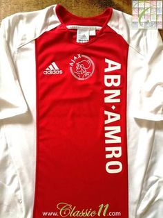 Official Adidas Ajax home football shirt from the 2005/2006 season.