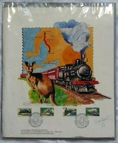 Roger Roberts Signed Art Reproduction Australian Railway Historical Society