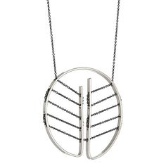 Botta Necklace in Sterling Silver and Oxidized Silver Chain ~ SFMOMA exclusive