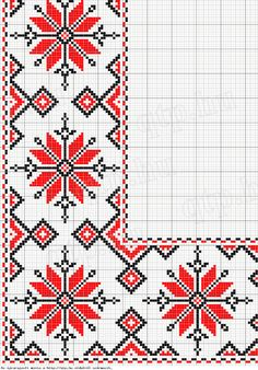 Bi-Color Folk Art Cross Stitch Edging