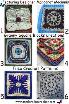 Crochet granny squares free patterns