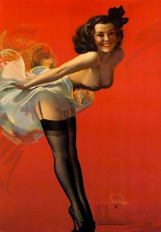 """""""Toast of the Town,"""" Rolf Armstrong, 1942."""