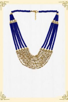 blue & gold necklace