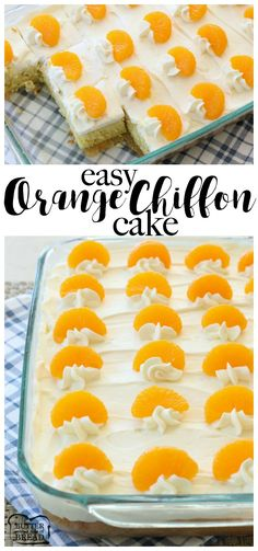 Orange Chiffon Cake is a light, delicate and perfectly sweet citrus cake that's incredibly easy to make! I adapted this version to bake in a 9×13, making it MUCH easier to bake and serve. Topped with sweet citrus stabilized whipped cream and orange slices, it's perfect for family gatherings and parties! Orange Chiffon Cake - Butter With A Side of Bread