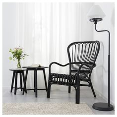 STORSELE Armchair, black, rattan Furniture Love Ikea