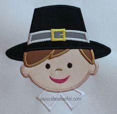 Pilgrim Boy 4x4 Dimensions Width: 88.5mm Height: 91.3mm Stitches: 6562    5x7 Dimensions Width: 126.2mm Height: 129.7mm Stitches: 9106    6x10
