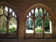 The Cloisters of New College, Oxford, England, founded by William of Wykeham in Hogwarts Professors, Oxford City, New College, Goth Home Decor, A Discovery Of Witches, Harry Potter, The Cloisters, Through The Looking Glass, Beautiful Places