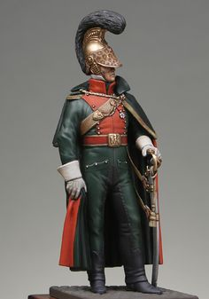 Guerras napoleónicas - Oficial de cavalaria Francês (Napoleonic Wars - Officer french line lancers 1812)