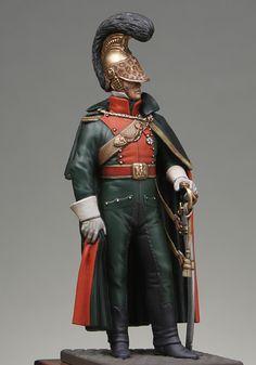 Guerras napoleónicas - Oficial de cavalaria Francês (Napoleonic Wars - Officer french line lancers 1812)