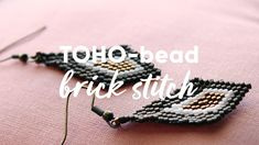 Panduro DIY Toho Beads Brick Stitch Earrings Brick Stitch Earrings, Weaving Techniques, Bead Weaving, Jewellery Diy, Jewelry, Cufflinks, Beads, Bracelets, How To Make