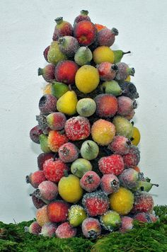 Sugared Fruit Topiary