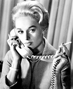 Actress Tippi Hedren in the film Marnie (Alfred Hitchcock, 1964)