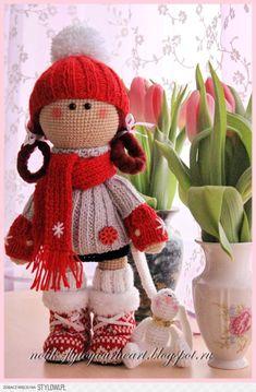 Fly to Your Heart-- Amigurumi girl Crochet Amigurumi, Crochet Doll Pattern, Knit Or Crochet, Cute Crochet, Amigurumi Doll, Amigurumi Patterns, Crochet Crafts, Yarn Crafts, Doll Patterns