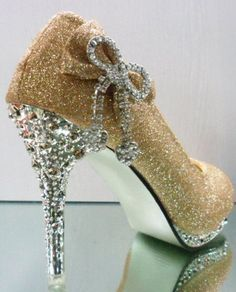 23f520d5d0f4 Juicy Couture · glitter classic gold Stiletto Shoes