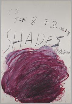 """Drawing for """"Fifty Days at Iliam, 1978, by Cy Twombly"""