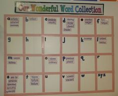 Vocabulary Word Wall  Beth Newingham