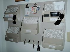 DIY Memo and organization board  - I Heart Organizing: Reader Space: Did You Get the Memo? {Part Deux}