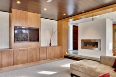 Modern Fireplace Design, Pictures, Remodel, Decor and Ideas - page 2 House Design, Home, Livingroom Layout, Fireplace Design, Basement Tv Rooms, Family Room Fireplace, Modern Fireplace, Living Room Wood, Room Layout