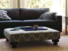 craftmaster accent ottomans cocktail ottoman with button-tufting
