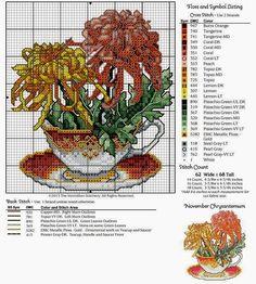 Birthday Teacup Florals ~~ NOVEMBER