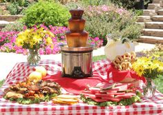 using your chocolate fountain for BBQ sauce for a summer picnic ... great idea