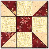 Calico Puzzle  A quilt out of these blocks would have a lot of movement!