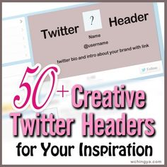Get inspired by these 50+ #twitter header examples before creating your own. Which is your favorite design?