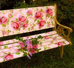 Romantic Rose Artist Jonny Petros Garden Bench http://www.jonnypetros.com/